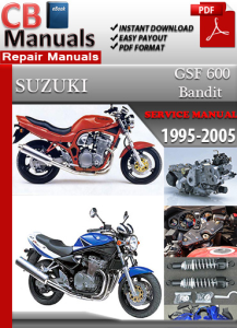 Suzuki Bandit GSF 600 1995-2005 Service Repair Manual | eBooks | Automotive