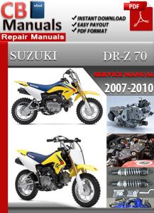 Suzuki DR Z 70 2007-2010 Service Repair Manual | eBooks | Automotive