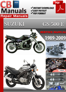 suzuki gs 500 e 1989-2009 service repair manual