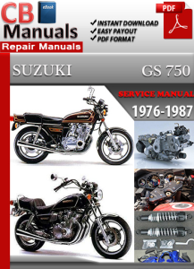 suzuki gs 750 1976-1987 service repair manual
