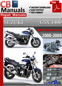 Suzuki GSX 1400 2000-2008 Service Repair Manual | eBooks | Automotive