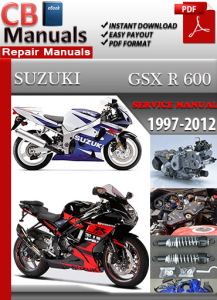 suzuki gsx r 600 1997-2012 service repair manual