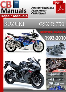 suzuki gsx r 750 1993-2010 service repair manual