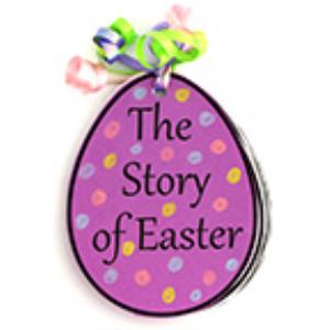 egg-shaped easter story eggs booklet