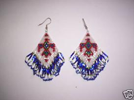 Brick Stitch Thunderbird Delica Seed Beading Earring Pattern | Other Files | Arts and Crafts