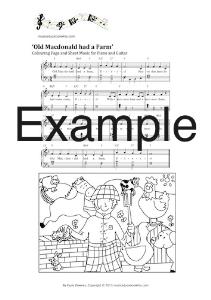 baa baa black sheep sheet music and colouring page