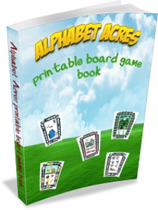 alphabet acres board game book