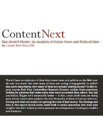 Size Doesn't Matter - An Analysis of Online News and Political Sites | eBooks | Business and Money