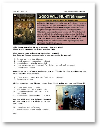Essay on good will hunting movie