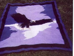 eagle wingspread crochet afghan graph pattern