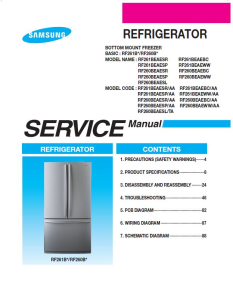 Samsung RF261BEAESR Refrigerator Original Service Manual Download | eBooks | Technical