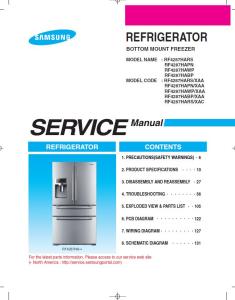 Samsung RF4287HARS Refrigerator Original Service Manual Download | eBooks | Technical