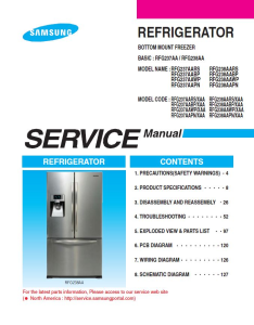 samsung rfg237aawp refrigerator original service manual download