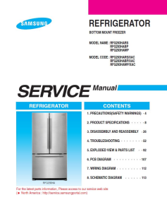 samsung rfg293hars refrigerator original service manual download