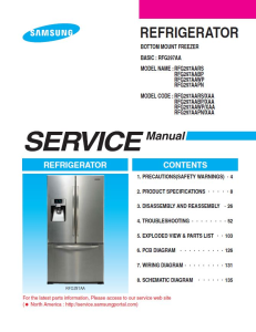 samsung rfg297aapn refrigerator original service manual download