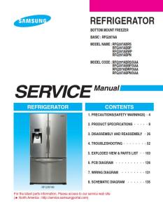 Samsung RFG297ABPN Refrigerator Original Service Manual Download | eBooks | Technical