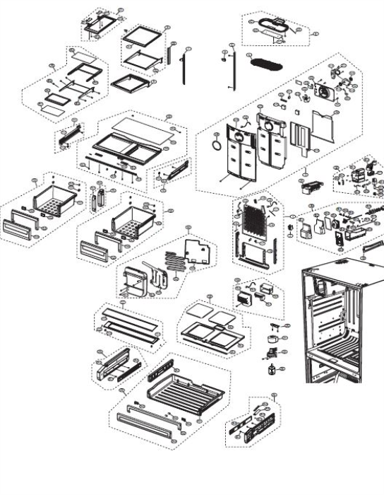 Third Additional product image for - Samsung RS261MDRS Refrigerator Original Service Manual Download