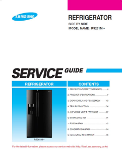 Samsung RS261MDWP Refrigerator Original Service Manual Download | eBooks | Technical