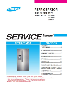 samsung rsg309aars refrigerator original service manual download
