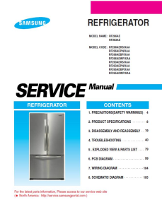 Samsung RF266AEPN Refrigerator Original Service Manual Download | eBooks | Technical
