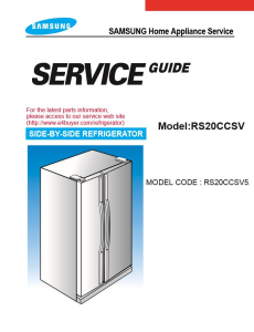 Samsung RS20CCSV Refrigerator Original Service Manual Download | eBooks | Technical