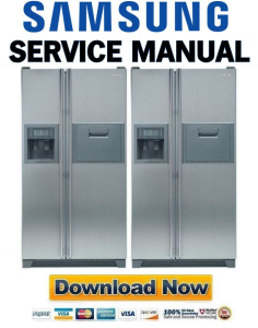 Samsung RS23FGRS Refrigerator Original Service Manual Download | eBooks | Technical