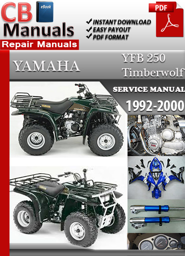 yamaha yfb 250 timberwolf 1992 2000 service repair manual. Black Bedroom Furniture Sets. Home Design Ideas