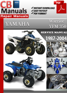Yamaha YFM 350 Warrior 1987-2004 Service Repair Manual | eBooks | Automotive