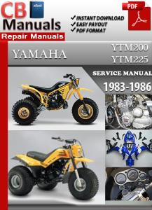 Yamaha YFM YTM200 YTM225 1983-1986 Service Repair Manual | eBooks | Automotive