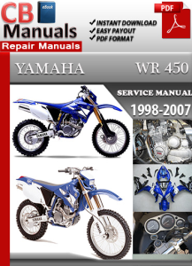 Yamaha WR 450 1998-2007 Service Repair Manual | eBooks | Automotive