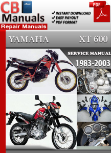 yamaha xt 600 1983-2003 service repair manual