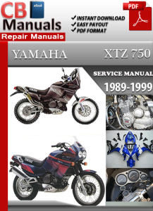 Yamaha XTZ 750 1989-1999 Service Repair Manual | eBooks | Automotive