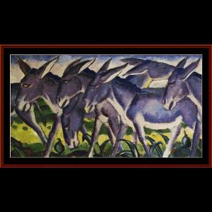 donkey frieze - marc cross stitch pattern by cross stitch collectibles