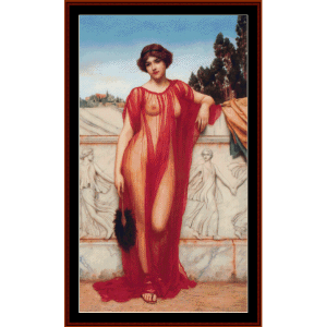 athenais - godward cross stitch pattern by cross stitch collectibles