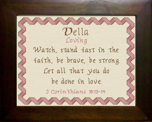 First Additional product image for - Name Blessings - Della