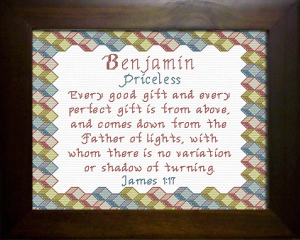 Name Blessings - Benjamin 2 | Crafting | Cross-Stitch | Other