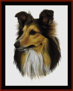 shetland - robert j. may cross stitch pattern by cross stitch collectibles