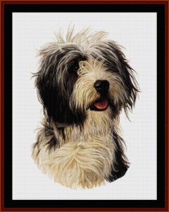 bearded collie - robert j. may cross stitch pattern by cross stitch collectibles