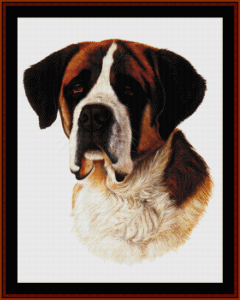 saint bernard - robert j. may cross stitch pattern by cross stitch collectibles