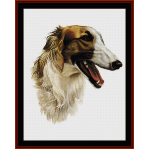 Borzoi - Robert J. May cross stitch pattern by Cross Stitch Collectibles | Crafting | Cross-Stitch | Wall Hangings