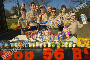 wilmington boy scout troop 56 food drive-april, 15th 2014-success