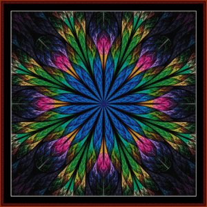 fractal 436 cross stitch pattern by cross stitch collectibles