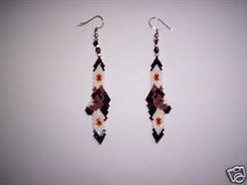 Brick Stitch Horse Feather Delica Seed Beading Earring Pattern | Other Files | Arts and Crafts