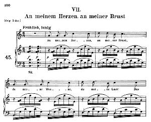 Am Meinen Herzen, an meiner Brust Op 42 No.7, Medium Voice in C Major, R. Schumann (Frauenliebe und-leben), C.F. Peters | eBooks | Sheet Music