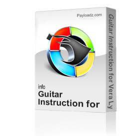 guitar instruction for vera lynns well meet again