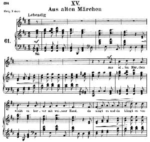 Aus alten Märchen Op.48 No.15, Medium Voice in D Major, R. Schumann (Dichterliebe), C.F. Peters | eBooks | Sheet Music