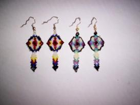 Brick Stitch Shield Feather Delica Seed Beading Earring Pattern | Other Files | Arts and Crafts