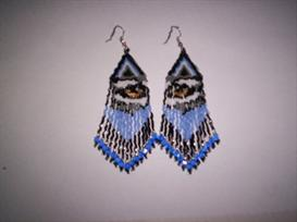 Brick Stitch Wolf Eye Delica Seed Beading Fringe Earring Pattern | Other Files | Arts and Crafts