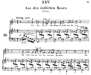 Aus den östlichen Rosen Op. 25 No. 25, Medium Voice in E Flat Major (Original key), R. Schumann (Myrten), C.F. Peters | eBooks | Sheet Music