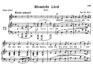 Blondels Lied Op.53 No.1, Medium Voice in F Major, R. Schumann, C.F. Peters | eBooks | Sheet Music